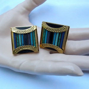 Langani Anni Schaad gGermany Duitsland rare zeldzame clip oorbellen earrings desinger vintage 2.JPG