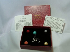 Vintage KJL Kennethe J. Lane costume pin brooch changable seal original box a.JPG