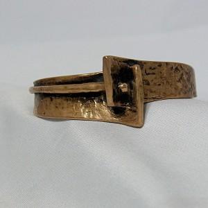 Harrie Lenferink Harry bronzen bronze brons armband cuff bracelet spang Nederlands Ditch design brutalist modernist vintage 6.JPG