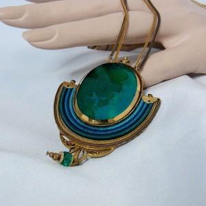 Langani Duitsland Anni Schaad Germany 1980s 80er jaren collier necklace vintage designer pendant hanger 5.JPG