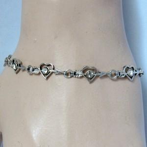 Vintage sterling 925 zilveren silver sweet heart hart armband bracelet Valentine Valentijn 1.JPG