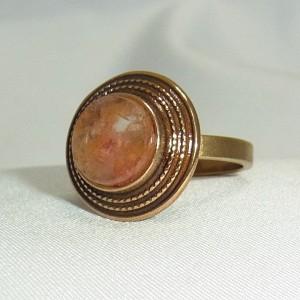 Kalevala Koru Oy Finland Finse bronze ring met natuurlijke steen modernist bronz ring natural stone designer vintage 1.JPG