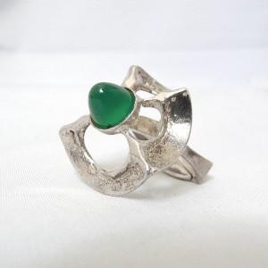 Gunthner, Bijou Jeunesse, Pforzheim Germany, vintage modernist 925 silver ring sterling adjustable brutalist designer 1.JPG