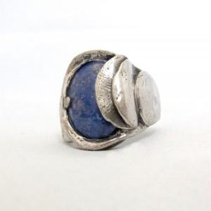 Perli Germany Duitsland 835 zilveren ring silver ring adjustable verstelbaar marga Mey Schwäbische Gmünd modernist vintage designer brutalist 1.JPG