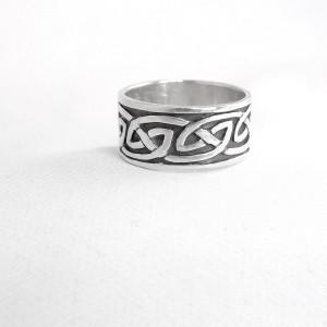 Celtic Keltische 925 sterling silver zilveren band ring  vintage designer 3.JPG