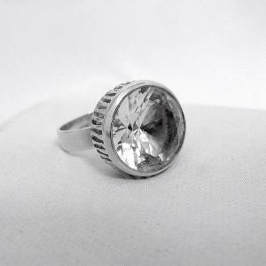 Bengt Hallberg BeH Sweden Zweden Zweedse sterling 925 silver zilveren adjustable  verstelbare ring Rock crystal bergkristal designer modernist vintage 3.JPG