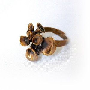 Hannu Ikonen Finland Finnish Finse bronze bronzen ring adjustable verstelbaar modernist designer Scandinavisch vintage Reindeer Moss Rendier mos 5.JPG