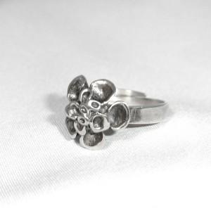 Hannu Ikonen Finland vintage 925 sterling silver zilveren designer ring, motief rendier mos reindeer moss adjustable verstelbaar  modernist scandinavian 1.JPG