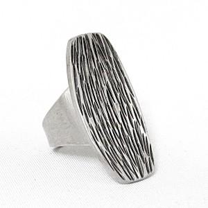 Jorgen Jensen Denemarken Denmark modernist pewter modernistische 60er jaren tinnen adjustable verstelbare ring met brutalist, no. 181 2.JPG