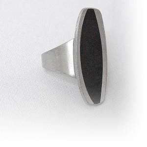 Jorgen Jensen Denemarken Denmark modernist pewter modernistische 60er jaren tinnen adjustable verstelbare ring met brutalist, no. 858 1.JPG