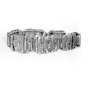 Ton van den  Hout Dutch Nederlandse Netherlands 835 zilveren armband silver bracelet 70er jaren 1970s modernist brutalist vintage designer 6.JPG