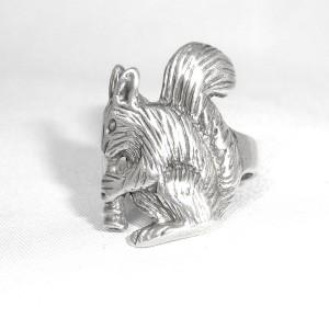 Eekhoorn squirrel 925 sterling zilveren ring silver vintage large designer special natural nature natuur bossen forest 2.JPG