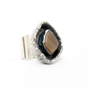 Jacob Hull Denmark Denemarken Buch Deighmann silverplated verzilverde adjustable verstelbare ring modernist designer vintage brutalist 2a.JPG
