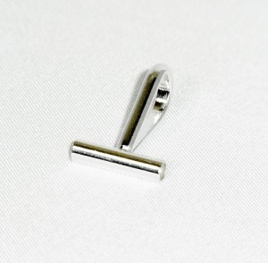 Horizontal horizontale Brooch Converter Broche Omvormer zilverkleurig silvertone b.JPG
