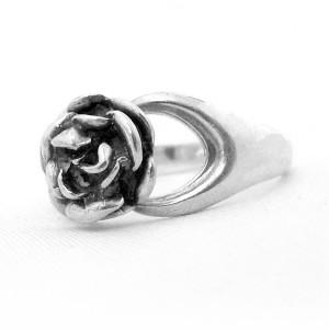 Erik Granit Finland small rose ring rozen kleine 925 sterling silver zilveren modernist designer vintage 1974 Finnish 5.JPG