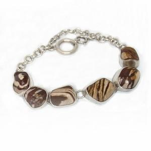 925 zilveren sterling silver vintage bracelet with rough polished natural stones natuurlijke stenen designer modernist 4.JPG