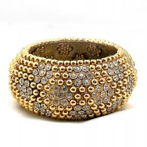 Yves Saint Laurent Originele Original vintage designer bracelet armband haute couture YSL gold tone plated crystal 2.jpg