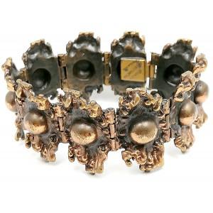 Pentti Sarpaneva Finland bronze bronzen  vintage bracelet armband ring modernist scandinacian brutalist designer 1960s 1970s 60er 70er jaren 6.jpg