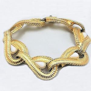 Givenchy designer schakel bracelet link armband vintage gold tone gilded vergulde Paris France French Frans haute Couturre 4.jpg