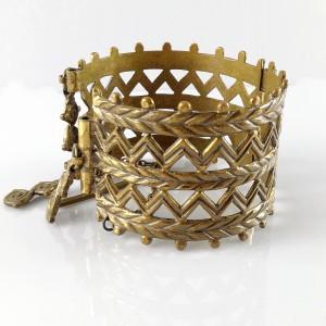 Kalevala Koru Oy Finland bronzen bronze Merya armband bracelet wide large grote designer vintage modernist Scandinavian 6.jpg