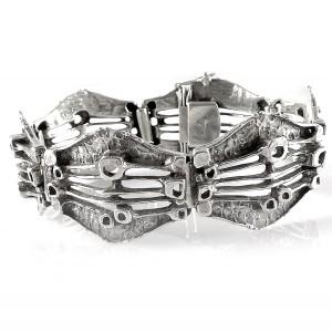 Teka Theodor Klotz Pforzheim Germany Duitsland 925 sterling zilveren silver open gesloten link bracelet schakel armband vintage modernist designer organic brutalist 1.jpg