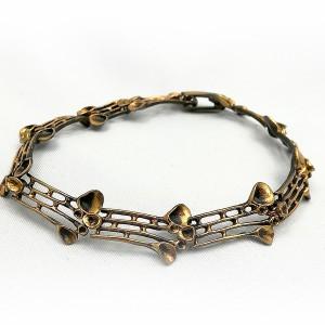 Hannu Ikonen Finland vintage bronzen schakel armband bronze link bracelet designer modernistnsacndinavian reindeer moss rendiermoss 1.jpg