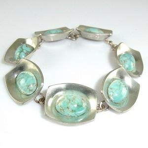 Jorgen Jensen Denmark Denemarken modernist designer vintage brutalist link bracelet schakel armband model 220 A 1960s 1.JPG
