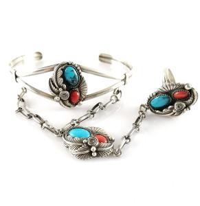 Navajo Native Indian Indianen America Amerika  925 sterling silver zilveren bracelet set armband set ring vinatage designer traditional 1.jpg