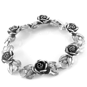 Teka Theodor Klotz Pforzheim Germany Duitsland small 925 sterling silver zilveren armband bracelet  roosjes roses rose old vintage designer antique 2.jpg