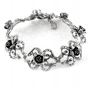 Teka Theodor Klotz Pforzheim Germany Duitsland 925 sterling silver zilveren armband bracelet  roosjes roses rose old vintage designer antique 1.jpg