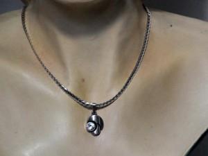 Karl Laine Finnfeelings Finland Finnland necklace pendant hanger kettingcollier vintage modernist zilveren 1.JPG