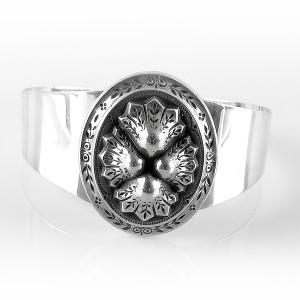 Brede wide vintage sterling 925 silver zilveren folkloristische folkloric spang armband cuff bracelet designer modernistn traditional 1.jpg