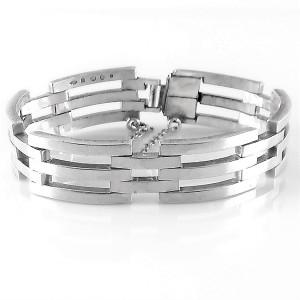 Nol Coopmans Nederland Dutch designer massive zware modernist modernistische 835 zilveren armband modernist silver bracelet vintage high quality kwaliteit 1975 1.jpg