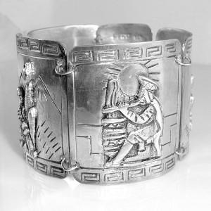 Peru Old oude vintage Peruvian 925 sterling silver zilveren brede wide bracelet armband tribal traditional designer vintage 4.JPG