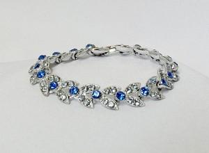 ORA Vintage Art Deco bracelet armband blue blauwe rhinestone 2.JPG
