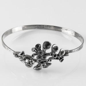 Hannu Ikonen Finland Valu Koru Oy 925 sterling silver zilveren bracelet spang armband vintage designer modernist brutalist scandinavian 1.jpg