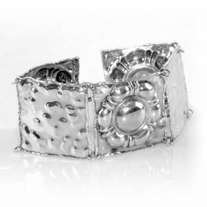SA.DU.SA. di Duchi Brunetto Arezzo Itali Italian Italie sterling 925 zilveren silver bracelet armband designer modernist vintage brede wide 1a.JPG