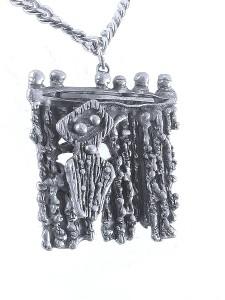 Guy Vidal Canada Modernist Organische brutalist designer necklace collier kettting pewter tin tinnen 1970s 70er jaren 4.jpg