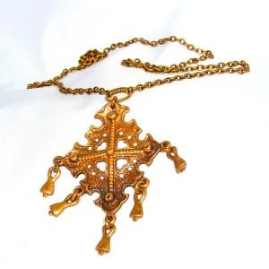 Kalevala Koru Oy Finland KK bronze bronzen hager ketting collier pendant necklace vintage designer modernist Scandinavian 1.JPG