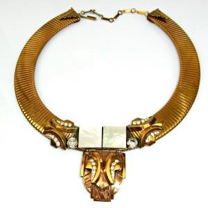 Ermani Bulatti Dutch Nederlands Designer bronzen bronze necklace coliier ketting Art Deco Costume Design vintage 5.JPG