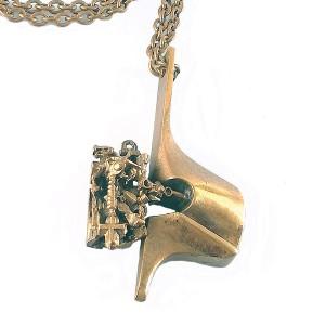 Lapponia Finland Springfield Bronze bronzen Flame serie pendant necklace hanger ketting collier brutalist vintage modernist designer design Bjorn Weckstrom 1970s 70 er jaren 2.jpg