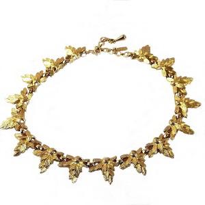 Monet America Amerika vintage massive massief gilded gold plated verguld designer collier necklace geborsteld effect brushed modernist  80er jaren 6.jpg