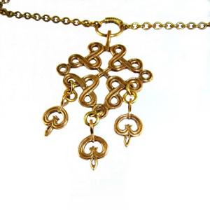 Kalevala Koru Oy Finland vintage bronze bronzen designer pendant necklace hanger ketting collier modernist brutalist traditional Scandinavian 5a.JPG