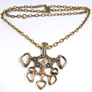 Studio Else _en_ Paul Noorwegen Norway vintage modernist bronze pendant necklace colluer hanger ketting bronzen designer Scandianvian 1970s 3.JPG