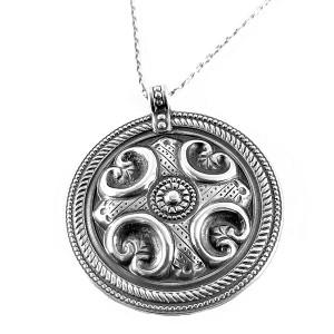 Kalevala Koru Oy Finland Finnish vintage 925 (=sterling) silver zilveren pendant necklace hanger ketting collier modernist Raisala 1.jpg