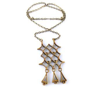 Pentti Sarpaneva large grote  vintage modernist bronze bronzen pendant necklace hanger ketting collier designer brutalist Scandianvian 70er jaren 1970s 3.jpg