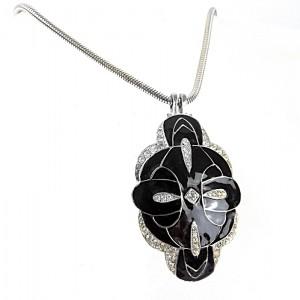 Eisenberg America Amerika vintage modernist designer costume pendant necklace 1960s hanger ketting silver zilver kleurig 1.jpg