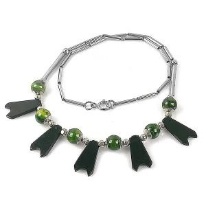 Jacob Bengel Germany Art Deco chrome vintage modernist Machine Age designer necklace collier ketting necklace 2.jpg