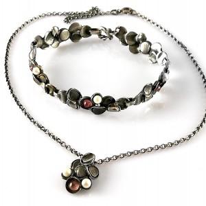 Perli Martha May Germany Duitsland 925 silver zilveren sterling bracelet necklace pendant set collier hanger ketting armband designer modernist brutalist vintage 4.jpg