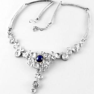 Gunthner Bijou Jeunesse Pforzheim Germany Duitsland vintage modernist 925 sterling silver necklace lapus lazulli designer 1960s 1970s 70er jaren 1.jpg
